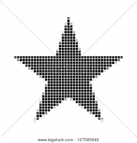 Five Pointed Star, Pentagram.  The Simple Geometric Pattern Of Black Squares With Shadowed Frame. Se