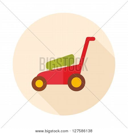Lawn Mowers flat vector icon outline isolated garden eps 10