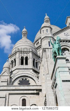 Sacred Heart Sacre Coeur Church in Montmartre, Paris, France