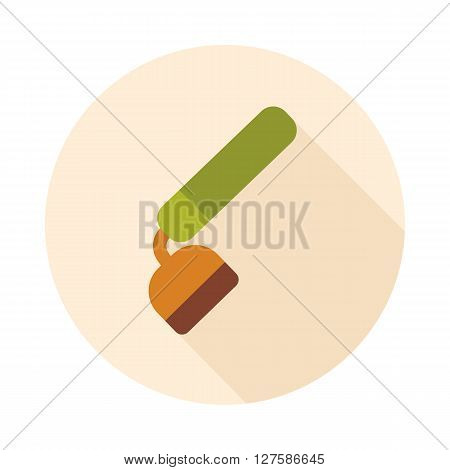 Hoe flat vector icon. Garden Equipment outline isolated eps 10
