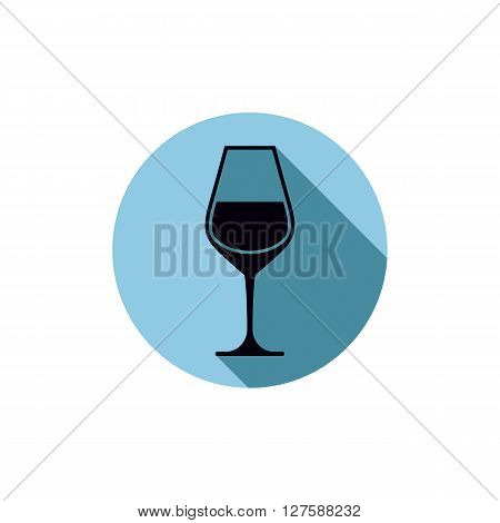 Sophisticated wine goblet stylish alcohol theme illustration. Classic wineglass romantic rendezvous idea.