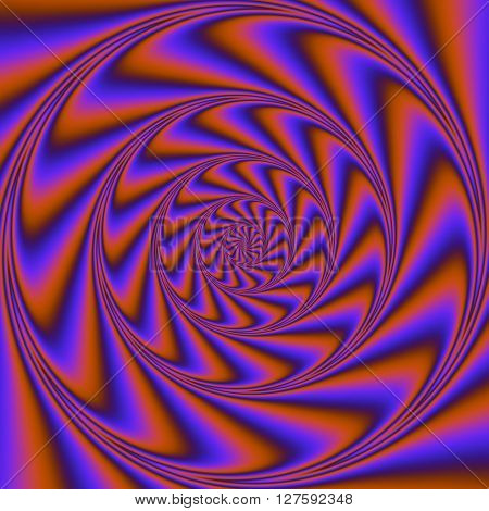 Psychedelic Wind Spiral.  Digital Abstract Image With A Psychedelic Spiral