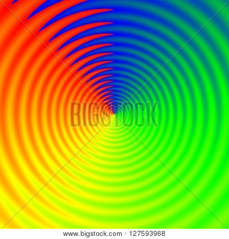 Twisted Spectrum Colors. Rainbow Vivid Rays In Cube, Colorful Background Template