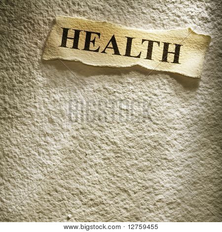 health retirement on the old paper backgroune
