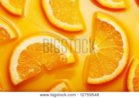 Hi res orange slices background
