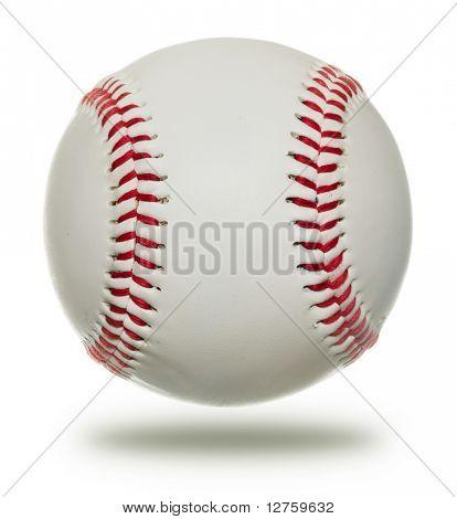 Beisebol de novo isolado no fundo branco