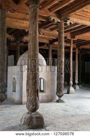 Friday - Djuma - mosque with wooden columns, Khiva, Uzbekistan