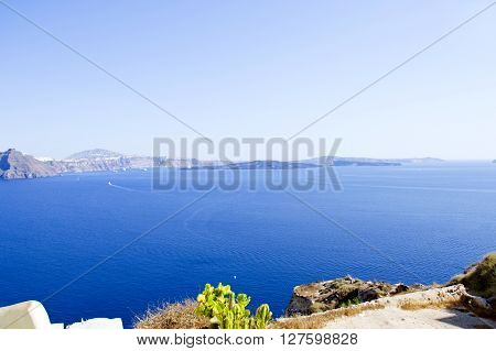 Panorama beautiful island of Santorini - Greece, Europe