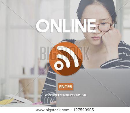 Online Digital Internet Networking Concept