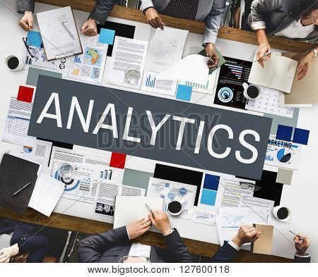 Business Analytics Statistics Analyze Concept