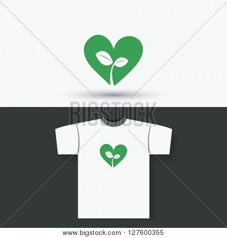 T-shirt Print Design Concept With Eco Design