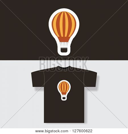 T-shirt Print Design Concept With Vintage Balloon Pattern