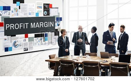 Profit Margin Payments Revenue Budget Concept