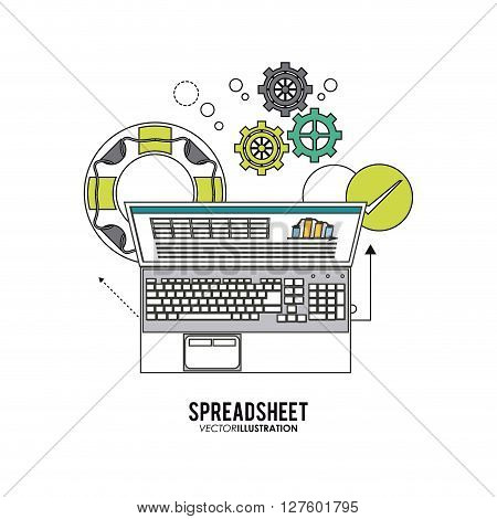 Spreadsheet concept with icon design, vector illustration 10 eps graphic.