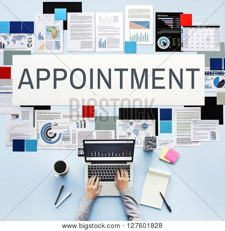 Appointment Calendar Meeting Schedule Concept