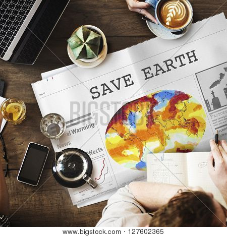 Save Earth Environment Conservation Protection Concept