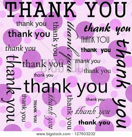 Thank You Design with Pink Polka Dot Tile Pattern Repeat Background that is seamless and repeats