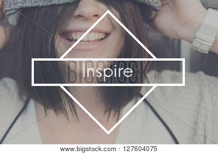 Inspire Confidence Creativity Dream Imagination Concept