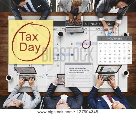 Tax Day Financial Economy Money Concept