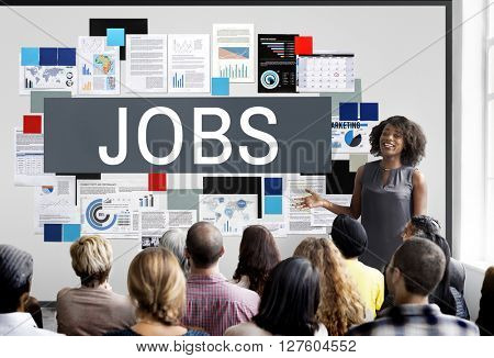 Jobs Careers Employing Hiring Human Resources Concept