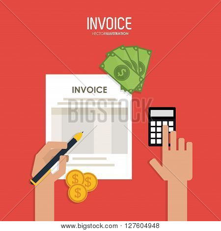 Invoice concept with icon design, vector illustration 10 eps graphic.