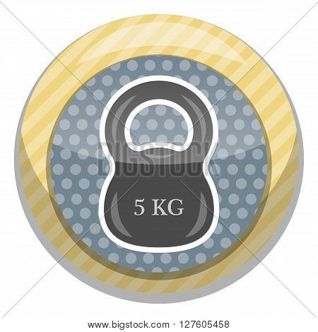 Weight single colorful icon. Vector colorful illustration