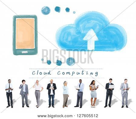 Cloud Computing Network Storage Online Concept