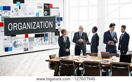 Organization Collaboration Company Group Team Concept