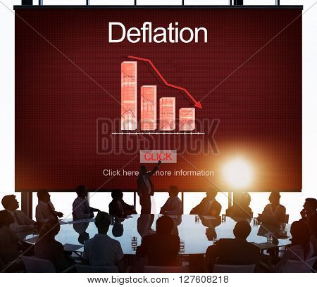 Deflation Bounce Currency Economy Financial Concept
