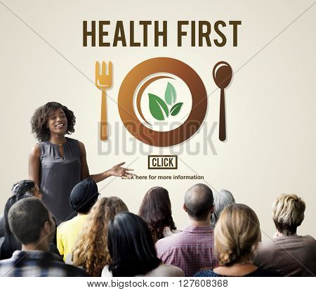 Health First Nutrition Active Diet Wellness Concept