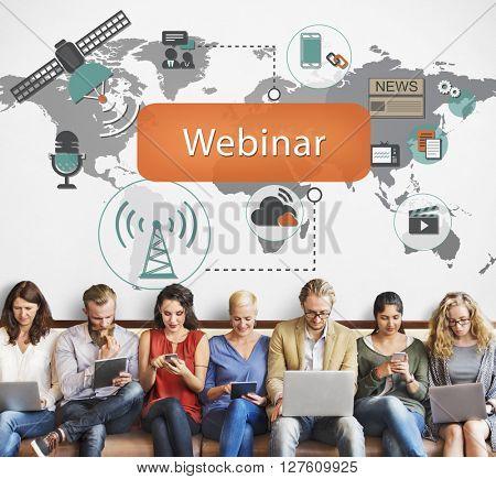 Webinar Technology Online Web Worldcloud Concept
