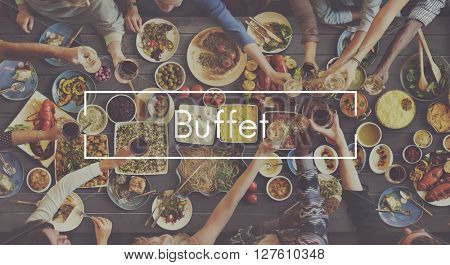 Good Food Good Mood Catering Buffet Foodie Restaurant Concept