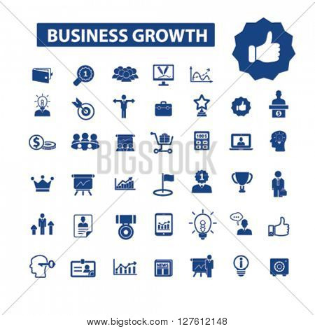 business growth icons