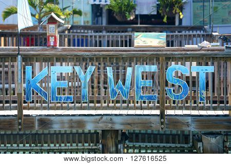 KEY WEST, FL, USA - DEC 20: Entrance of Key West Aquarium on December 20th, 2012 in Key West, Florida, USA.