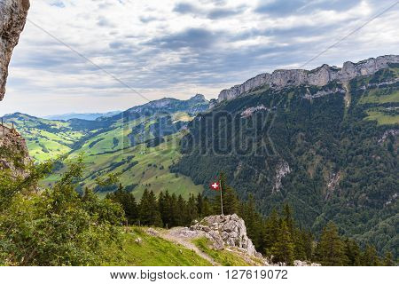 Panorama View Of Ebenalp