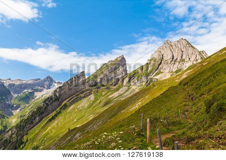 Stunning View Of Santis And Alpstein Massif