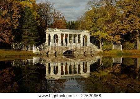 Siberian bridge in the Catherine Park in Tsarskoye Selo ** Note: Soft Focus at 100%, best at smaller sizes