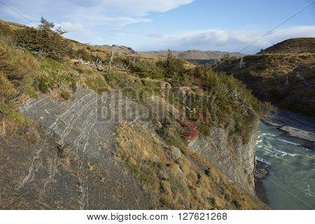 Canyon below the waterfall