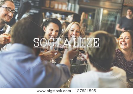 Team Spirit Toast Together Team up Socialize Concept