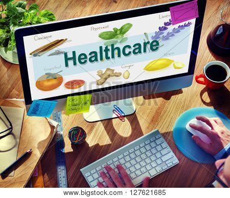 Health Care Treatment Vitamins Healthy Concept