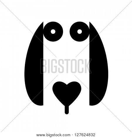Dog animal sign. Dog illustration idea for logo, emblem, symbol, icon. Vector illustration.