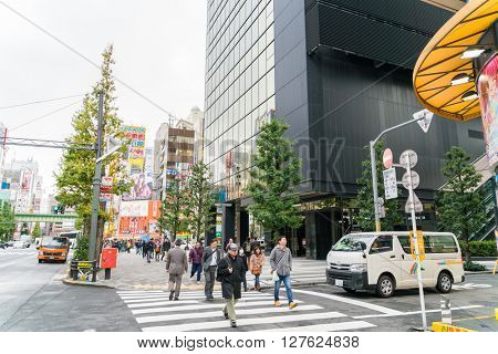 Tokyo, Akihabara. NOVEMBER 26, 2015.  Akihabara in tokyo. Akihabara gained the name Akihabara Electric Town for being a major shopping center for household electronic goods.