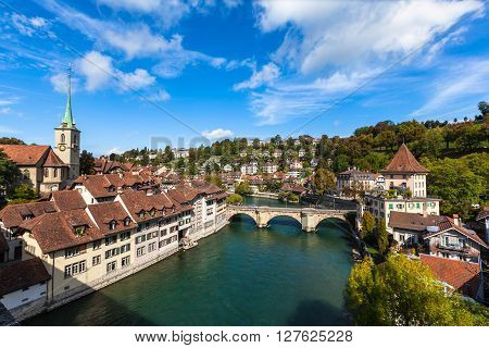 View Of Berne Old Town On The Bridge