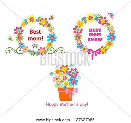 Award for mom with flowers