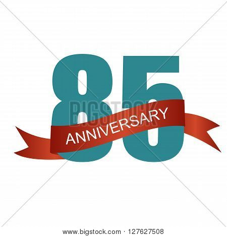 Eighty Five 85 Years Anniversary Label Sign for your Date. Vector Illustration