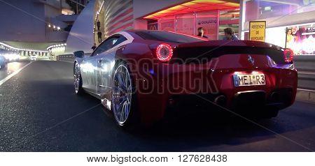 LONDON, UK - JULY 21 2016: Ferrari 458 Speciale seen in the street
