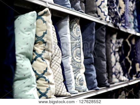 Decorative Pillows On A Shelf