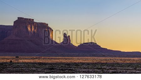 Amazing Sunrise Image of Monument Valley Utah