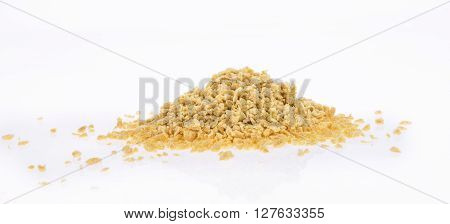 Dry Soya Mince, Isolated On White Background.