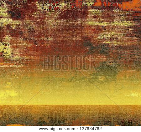 Abstract grunge background or aged texture. Old school backdrop with vintage feeling and different color patterns: yellow (beige); brown; gray; red (orange); pink